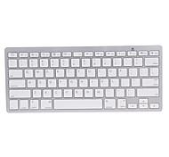 BKB800 Ultra-thin Wireless Bluetooth V2.0 78-key Keyboard - White + Silver (2 x AAA)