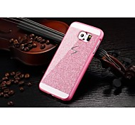 Fashion Shiny Bling Phone Case Hard Back Cover Case For Samsung Galaxy S6 (Pink)