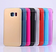 Ultrathin Metal And PC 2 In 1 Design Back Cover Case for Samsung Galaxy S6 Edge(Assorted Colors)