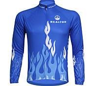 REALTOO Bike/Cycling Jersey / Tops Men's Long Sleeve Breathable / Ultraviolet Resistant Spandex Classic / Cartoon BlueS / M / L / XL /