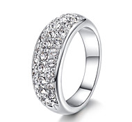 Women's Band Rings Crystal Fashion Simple Style Luxury Jewelry For Party