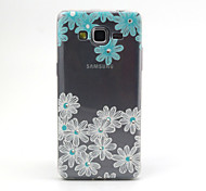 Daisy Flowers Pattern TPU Diamond Relief Back Cover Case for Samsung Galaxy Prime G530