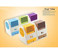 USB Battery Operated Electric Air Conditioning Fan(Random Color)