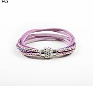 Damen Tennis Armbänder Luxus-Schmuck Leder Acryl Baumwollflanell Imitation Diamant 3 # 4 # 5 # 6 # 7 # Schmuck FürHochzeit Party Alltag