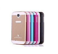 High-Grade Metal Arc Double Color Frame and Plastic Back Cover for Samsung Galaxy  S4 / I9500  (Assorted Colors)