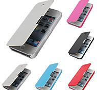 Кожа PU & PC обложка чехол для iphone 5с