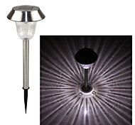 Stainless Steel 1-LED Whte Solar Lawn Light Pathway Garden Lamp
