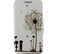 For HTC Case with Stand / with Windows / Flip Case Full Body Case Cartoon Hard PU Leather HTC