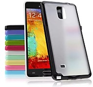 TPU Colorful Frame and PC Matting Transparent Slim Back Cover for Samsung Galaxy Note 4(Assorted Colors)