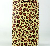 Leopard PU Leather Full Body Wallet Protective Case with Stand and Card Slot For Huawei Ascend G620s