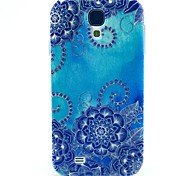Big Blue Lotus TPU Soft Case for Samsung Galaxy S4 I9500