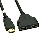 Gold Plated HDMI V 1.4 Male to Dual HDMI Female Adapter Splitter Cable