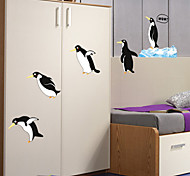 Cartoon Love Penguins PVC Wall Stickers Wall Art Decals