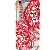 Funda Trasera - Diseño Especial/Transparente/Otro/Innovador/Diseñada en China/Flor - para iPhone 6 ( Rojo/Blanco/Multicolor , TPU )