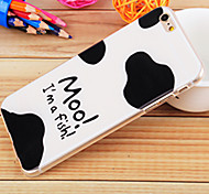 Black and White Painting TPU Falling Proof Case for iPhone6/6S