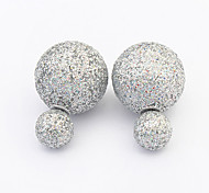 European Style Fashion Hot Sweet Shiny Resin Stud Earrings