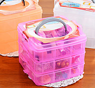 Three Layer Detachable Plastic Storage Box(Assorted Color)