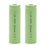2800mAh 3.7V 18650 Rechargeable Lithium Ion Battery (2pcs)