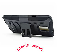 1pcs Black High Impact Silicone Rubber Stand Case Cover For Samsung Galaxy Note4