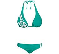Winmax® Women Green Nylon & Spandex Sexy Fashion Halter Style Bikini Swimwear