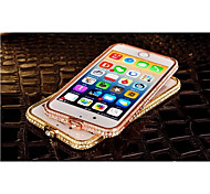 High Quality Shiny Aluminum Luxury Metal Diamond Look Bumper Frame for iPhone 6  (Assorted Colors)