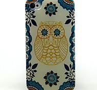 Yellow Owl Pattern Ultrathin TPU Soft Case for iPhone 4/4S