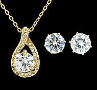 Latest Desigg Gold Plated Cheap Shining Rhinestone Wedding Jewelry Set