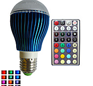 1pcs SchöneColors E26/E27/B22/GU10 9W Dimmable/32Keys Remote-Controlled/Decorative Globe Bulbs Lamps AC85-265V