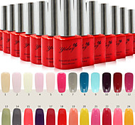 Nail Art Affordable Soak-off Gel Polish(10ml,No.1-24 ,Assorted Colors)