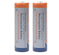 1800mAh 3.7V 18650 Rechargeable Lithium Ion Battery (2pcs)