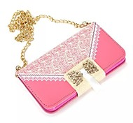 Lace PU Leather Case with Chain for Samsung Galaxy S6