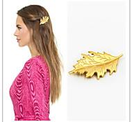 European Style Fashion Bride Headdress Maple Leaf Gold Hairpin