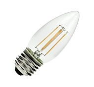 ON E26/E27 4.5 W COB 400 LM Warm White A Dimmable/Decorative LED Filament Lamps AC 110-130 V