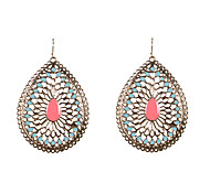 Fashion Women Enamel Cut Out Drop Earrings