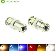 BAX9S H6W LED Blue/Red/Warm White/Green/Yellow/White 1.5W 5X5050SMD 90LM   for Car Light Bulb  (DC12-16V)