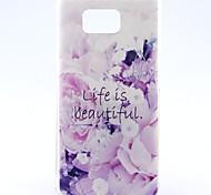 das Leben ist schön Blumenmuster ultradünnen weichen tpu rückseitige Abdeckung für Samsung-Galaxie alpha g850f