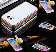 For Samsung Galaxy Case Shockproof Case Bumper Case Solid Color Metal Samsung S6
