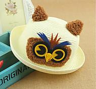 Unisex Cute/Party/Casual Summer Straw Straw Hat(Random Color)