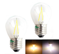 Zweihnder E27 2W 180LM 3000/6000K LED Tungsten Cool/Warm  White Globe Bulb (AC 220-240V,2Pcs)