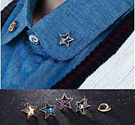 Европейская звезда моды сплава иглы воротник брошь (1 пара)