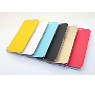PU Leather Lateral Extrusion and Translucent Plastic Pan for Samsung Galaxy S6 edge (Assorted Colors)