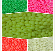 1000pcs/ 4*6Fishing Plastic Hard Beads Luminous Oval Beads Fishing Terminal Tackle Lures