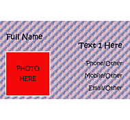 Business Cards 200pcs Photo Pattern 2 Sided Printing of Fine Art Filmed Paper