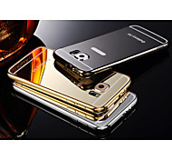 Two-in-one KX Brand Metal Frame Acrylic Backboard Metal Hard Case for Samsung Galaxy S6