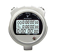 Metal Electronic Timer Stopwatch TF100F Three Row 100 Memory Stopwatch Stopwatch Timer Movement
