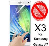 Mattschirm-Schutz für Samsung-Galaxie A7 (3 Stück)