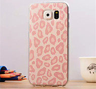 Pink leopard grain Pattern  ultrathin TPU Soft Back Cover for Samsung Galaxy S6