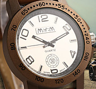 Men's Round Dial Case Silicone Watch Brand Fashion Quartz Watch(More Color Available)