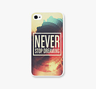 Never Pattern PC  phone case Back Cover Case for iPhone4/4S