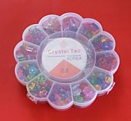transparentem Acryl diy Perlen sortierte Farbe und Form in Kunststoff-Box scherzt Spielzeuggeschenk fit Halskette Armband Schmuck